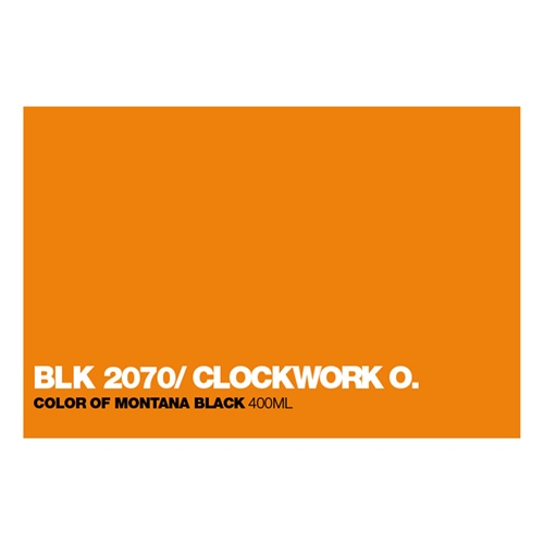 Graffiti Sprühdose BLK2070 Clock.Orange