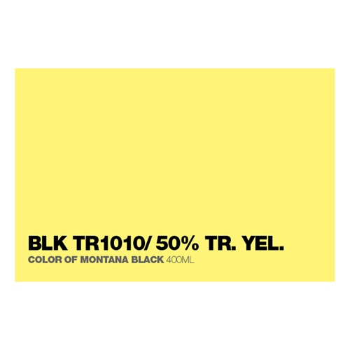 Graffiti Sprühdose BLKTR1010 50% Tr.Yell