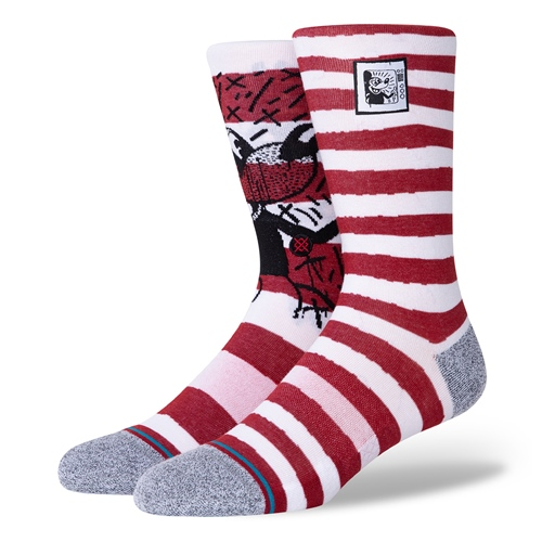 Socke Stance Mickey TV Haring Mix (Red)