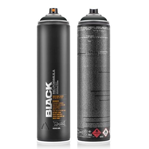 Graffiti Sprühdose BLK9001 Black 600 ml