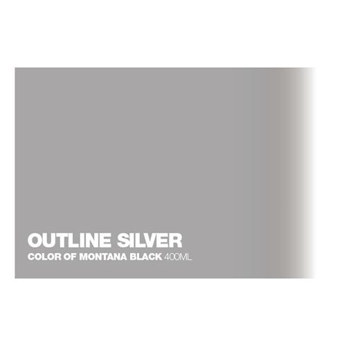 Graffiti Sprühdose Outline Silver