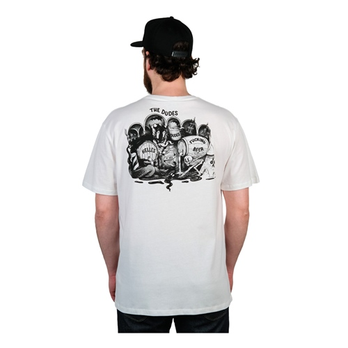 Dudes Helles in Hell (white) – T-Shirt
