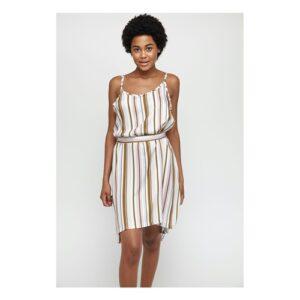 Mazine Pinetta Striped (khaki) – Kleid