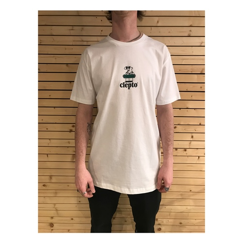 Clepto John Peace (White) – T-Shirt