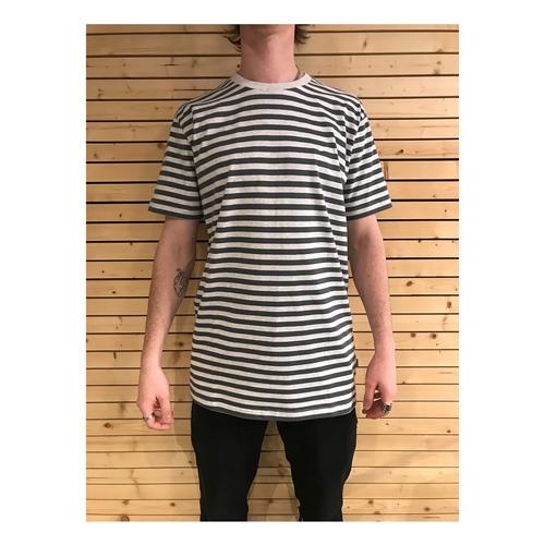 Clepto Stripe (Grey) – T-Shirt