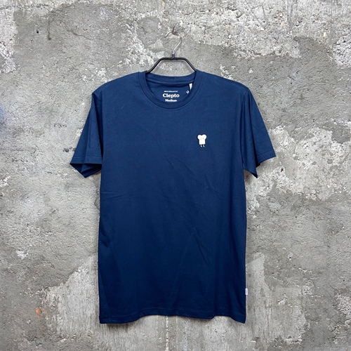 Cleptomanicx Embroidery (navy) – T-Shirt